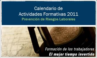 calendario actividades Calendario de formación 2011