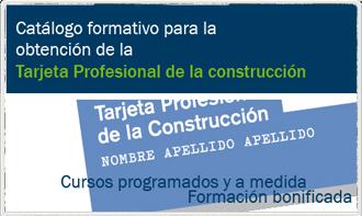 catalogo formativo Tarjeta Profesional